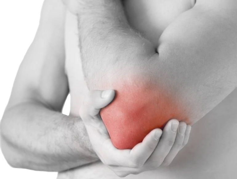 după exerciții fizice, dureri de cot