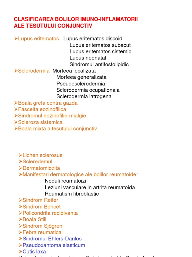 boli sistemice ale manifestărilor pielii țesutului conjunctiv articulația degetelor umflate