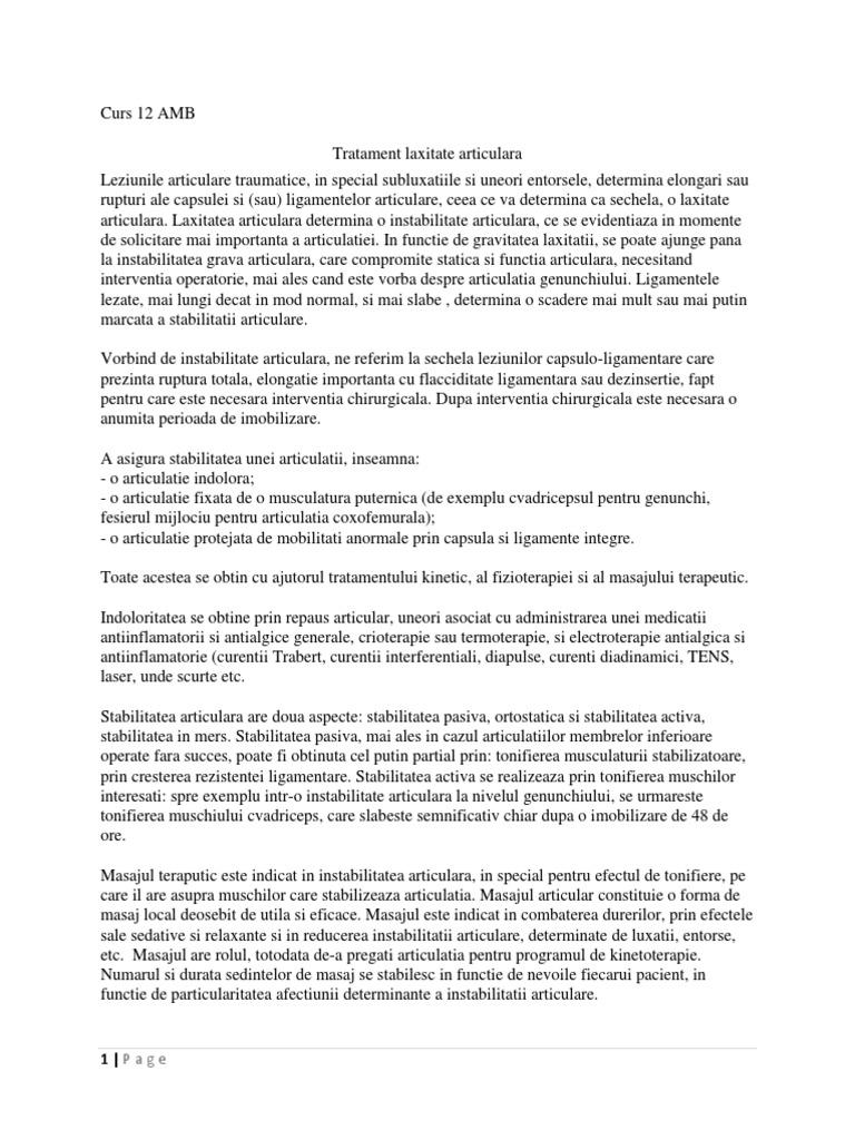 instabilitate articulară preparate de condroitină glucozamină Preț